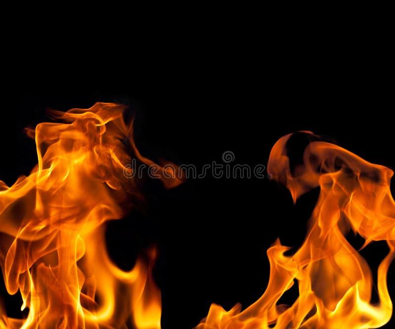 Fondo de la frontera de la llama del fuego fotos de archivo