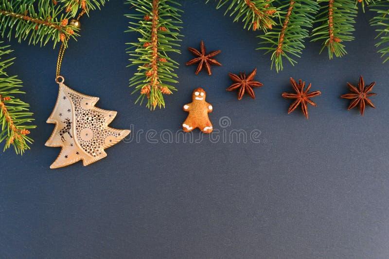 Fondo de la frontera de la Navidad fotografía de archivo libre de regalías
