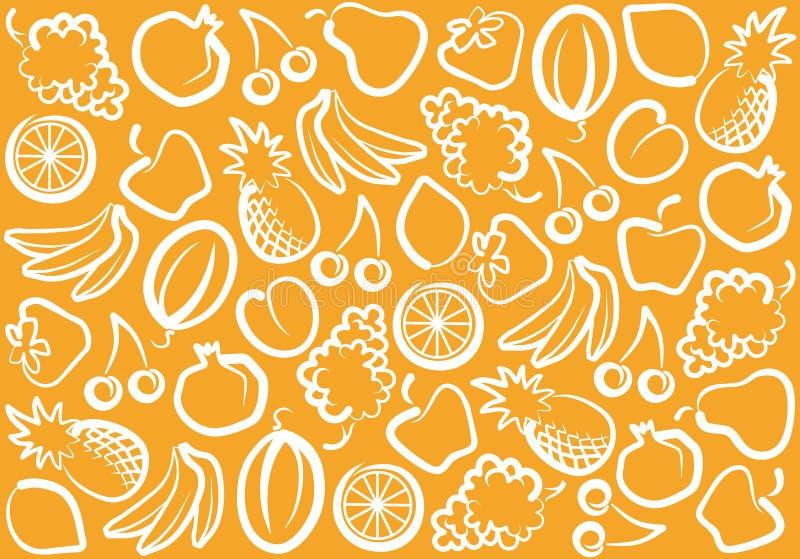 Fondo de la fruta ilustración del vector