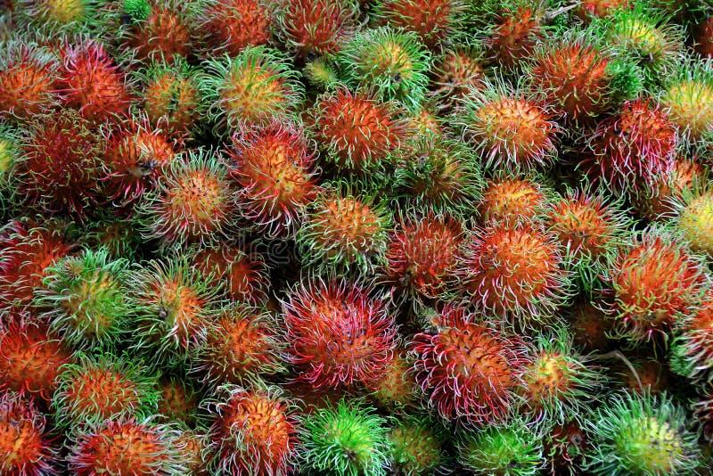 Fondo de la fruta fresca del Rambutan fotos de archivo