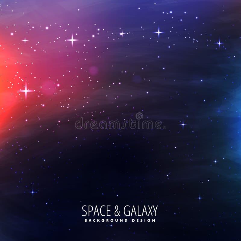 Fondo de la galaxia del universo ilustración del vector
