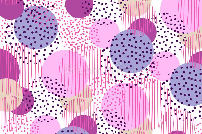 Fondo de la geometría del círculo del estilo del vintage diseño superficial del ejemplo para la impresión y la web libre illustration