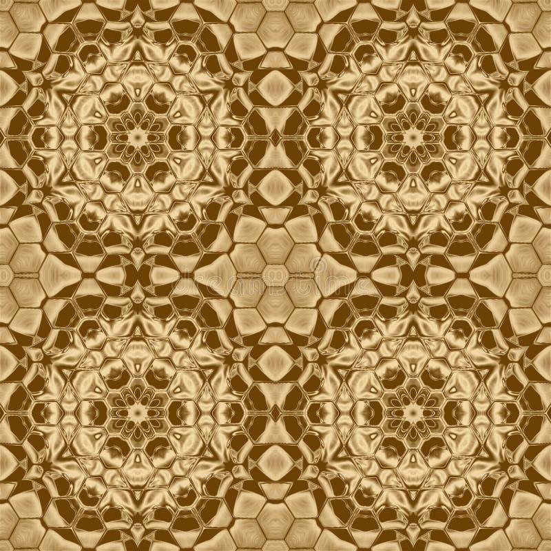 Fondo de la geometría del oro y diseño cristal de la simetría, gráfico ilustración del vector