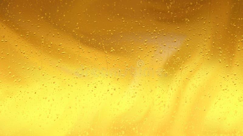 Fondo de la gota de agua del oro libre illustration
