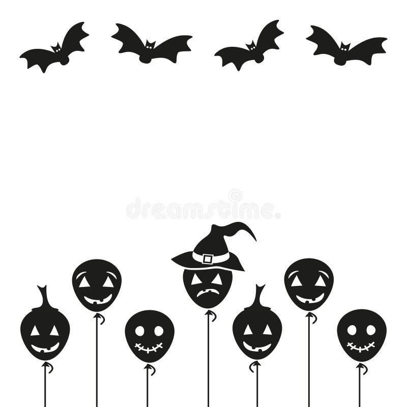 Fondo de la historieta de Halloween Ilustración del vector libre illustration