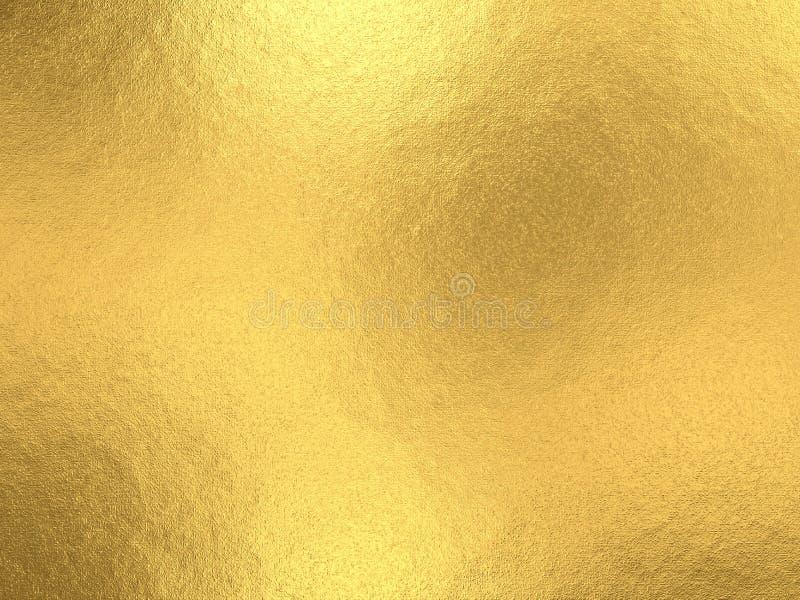 Fondo de la hoja de oro con reflejos de luz ilustración del vector