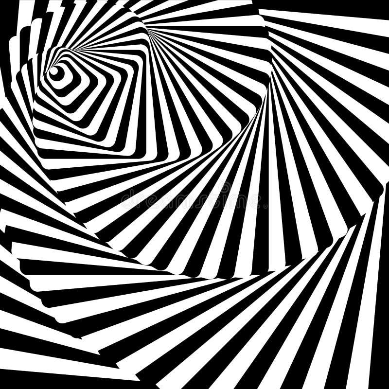 Fondo de la ilusión del movimiento del torbellino del diseño libre illustration