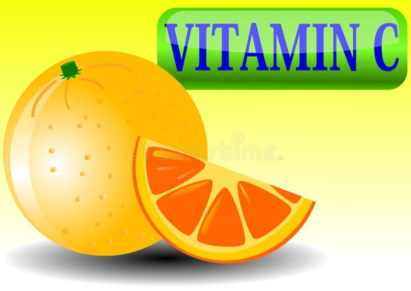Fondo de la ilustración del vector de la naranja y de la rebanada stock de ilustración
