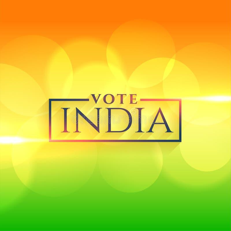 Fondo de la India del voto con colores indios de la bandera libre illustration