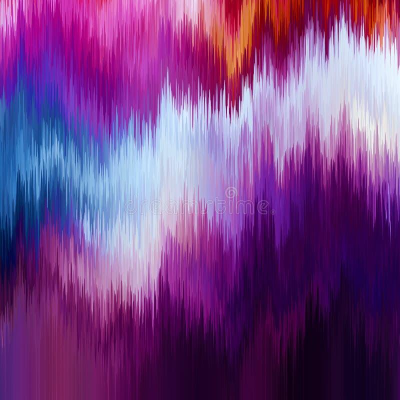Fondo de la interferencia del vector Distorsión de los datos de imagen de Digitaces Fondo abstracto colorido para sus diseños stock de ilustración
