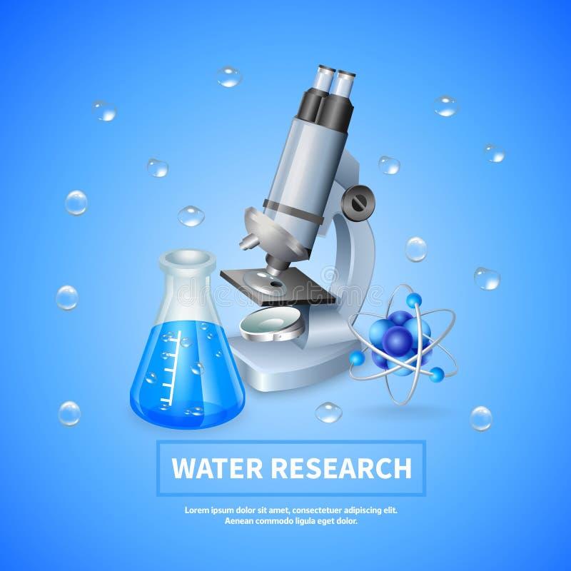 Fondo de la investigación de agua libre illustration