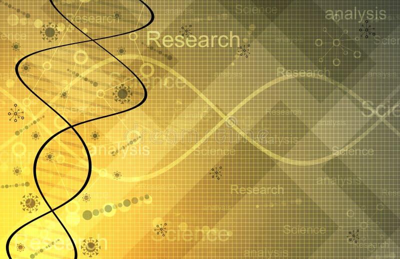 Fondo de la investigación de la ciencia foto de archivo
