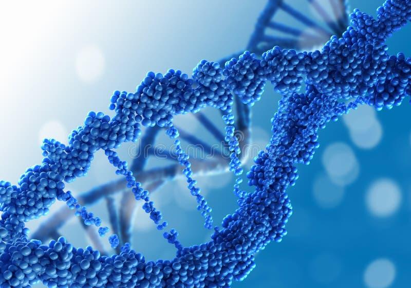 Fondo de la investigación de la DNA fotografía de archivo libre de regalías
