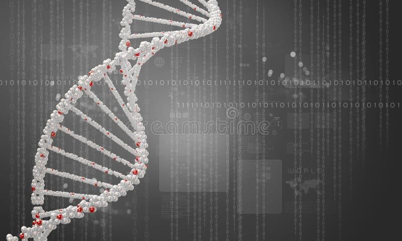 Fondo de la investigación de la DNA imagenes de archivo
