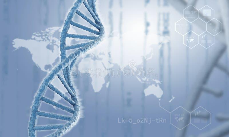 Fondo de la investigación de la DNA fotos de archivo