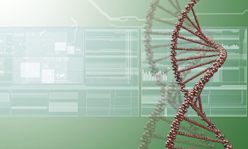 Fondo de la investigación de la DNA ilustración del vector