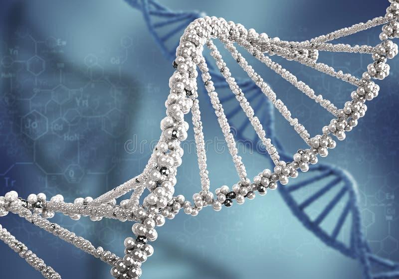 Fondo de la investigación de la DNA imagen de archivo