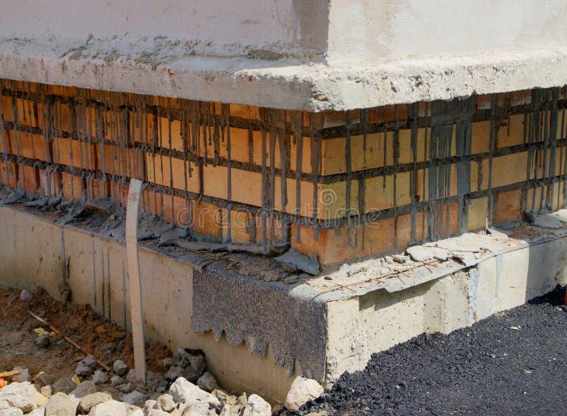 Fondo de la levantamiento de muros del albañil imagen de archivo libre de regalías