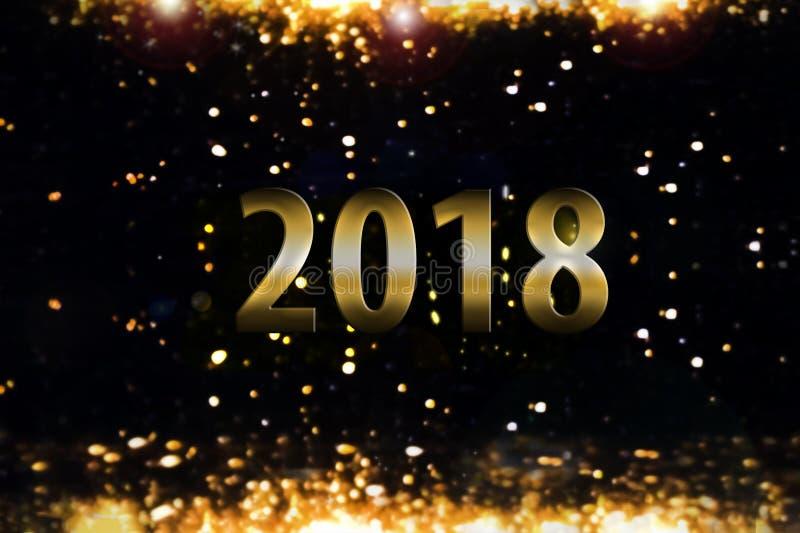 Fondo de la llamarada - Año Nuevo 2018 libre illustration