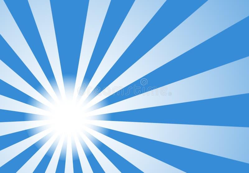 Fondo de la luz de moda del resplandor solar ilustración del vector
