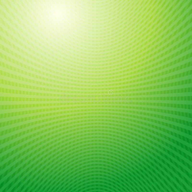 Fondo de la luz del extracto de la red de las ondas verdes stock de ilustración