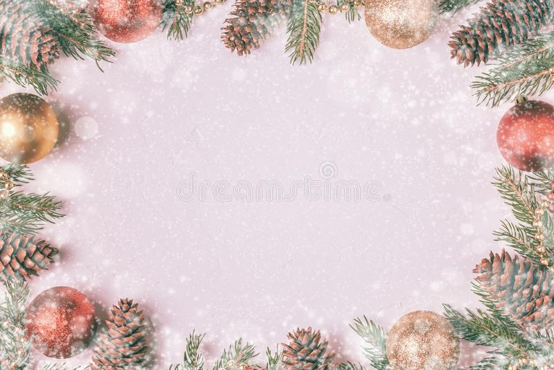Fondo de la luz de la Navidad foto de archivo