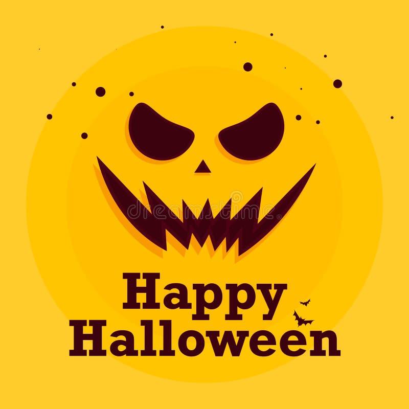 Fondo de la máscara de Halloween stock de ilustración