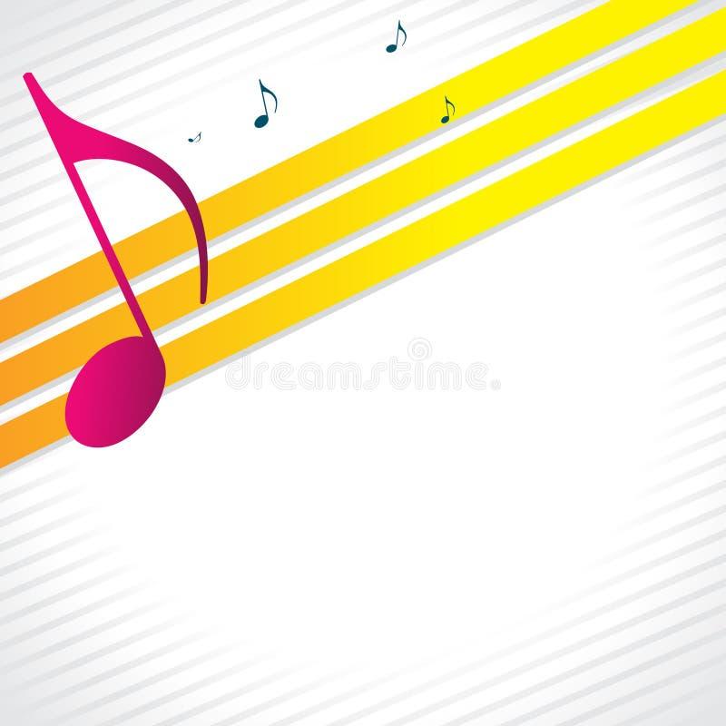 Fondo de la música stock de ilustración