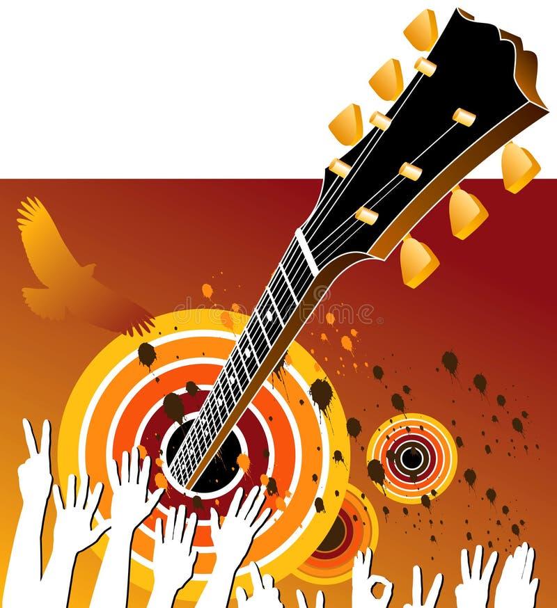 Fondo de la música de concierto stock de ilustración