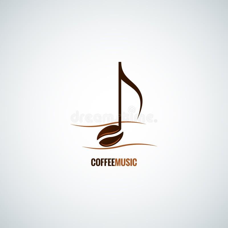 Fondo de la música del concepto del grano de café stock de ilustración