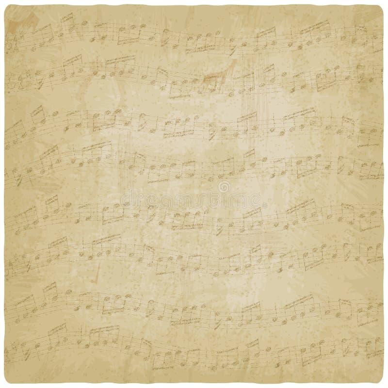 Fondo de la música del vintage ilustración del vector
