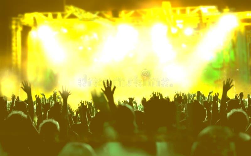 Fondo de la música en directo imágenes de archivo libres de regalías