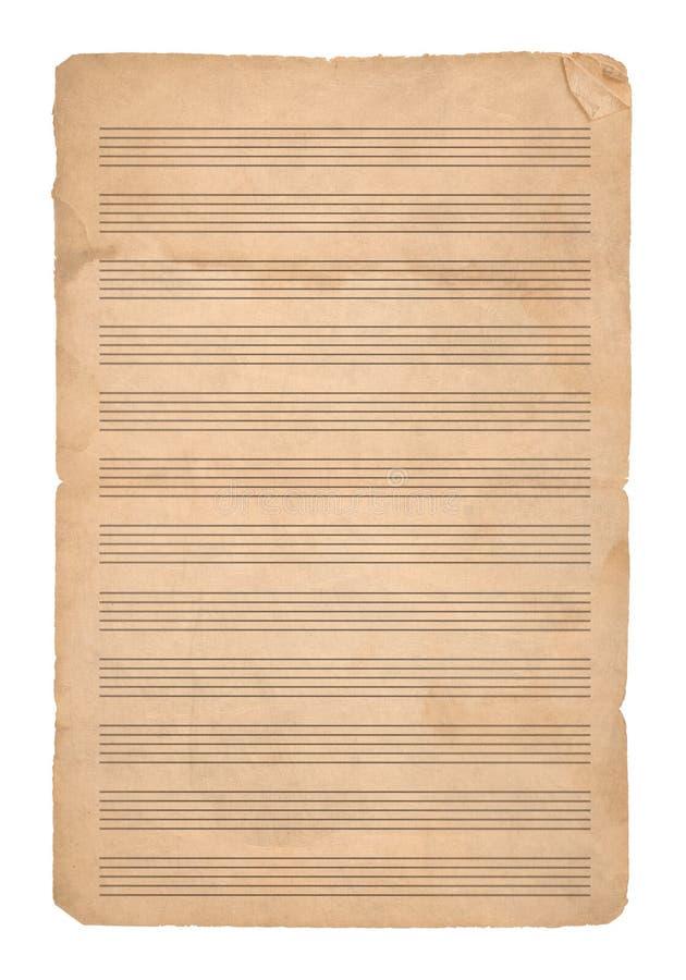 Fondo de la música paper foto de archivo libre de regalías