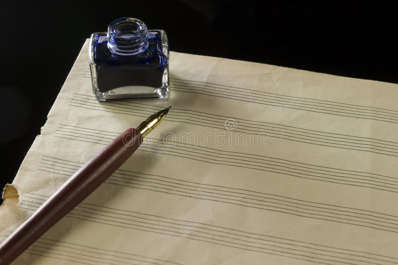 Fondo de la música paper imagen de archivo libre de regalías