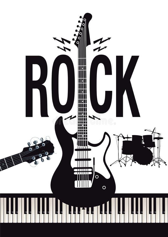 Fondo de la música rock stock de ilustración