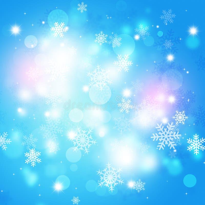 Fondo de la magia del invierno ilustración del vector