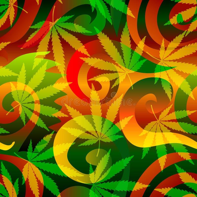 Fondo de la marijuana. stock de ilustración