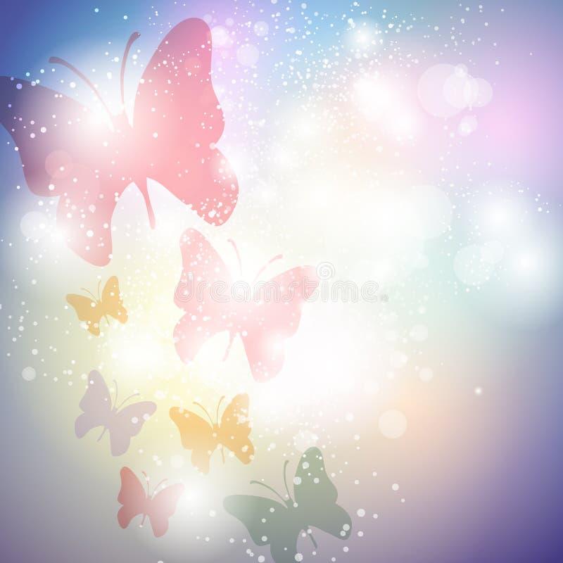 Fondo de la mariposa ilustración del vector