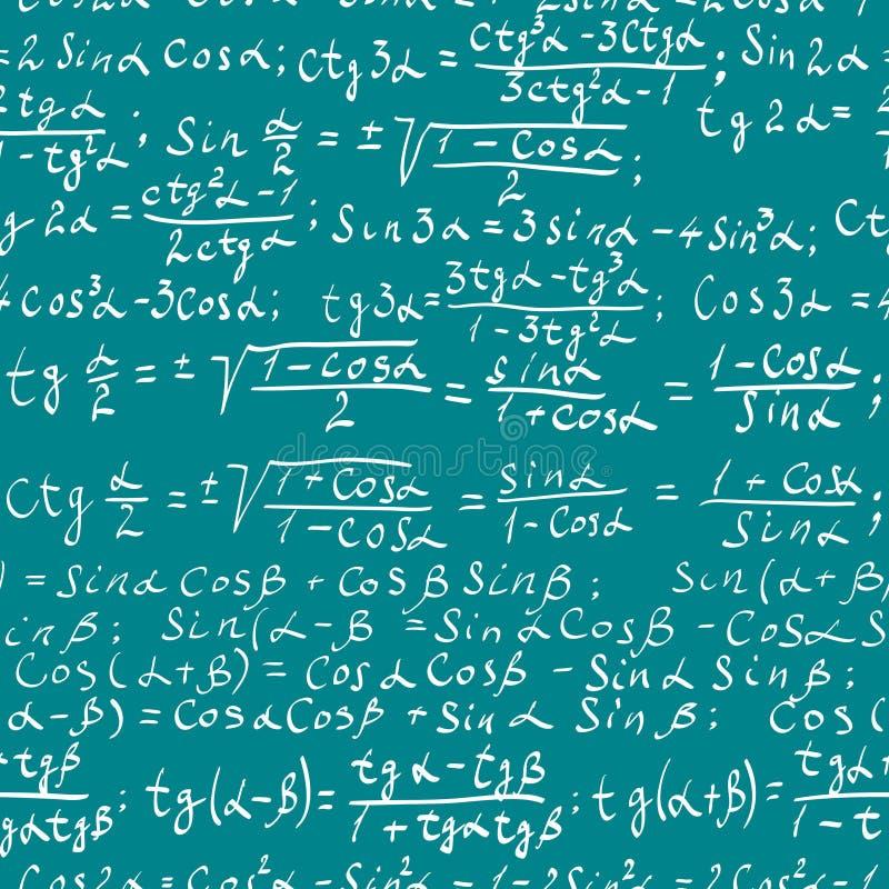 Fondo de la matemáticas ilustración del vector