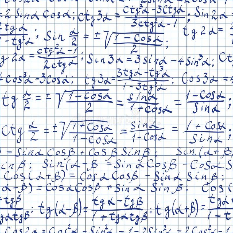 Fondo de la matemáticas stock de ilustración