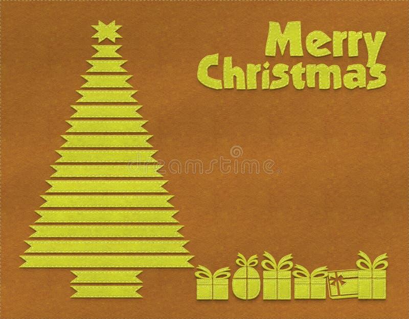Fondo de la materia textil de la Feliz Navidad ilustración del vector