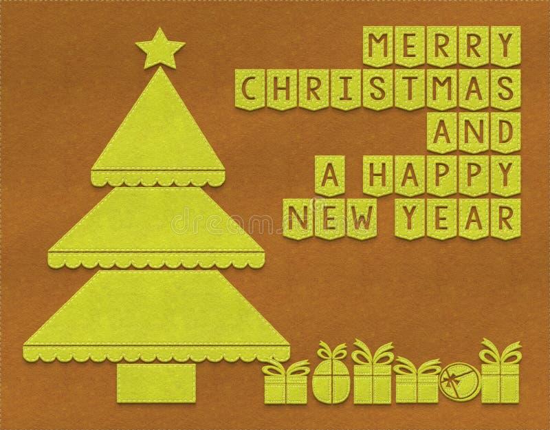 Fondo de la materia textil de la Feliz Navidad stock de ilustración