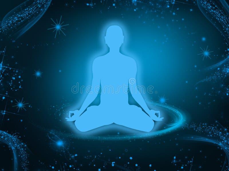 Fondo de la meditación libre illustration