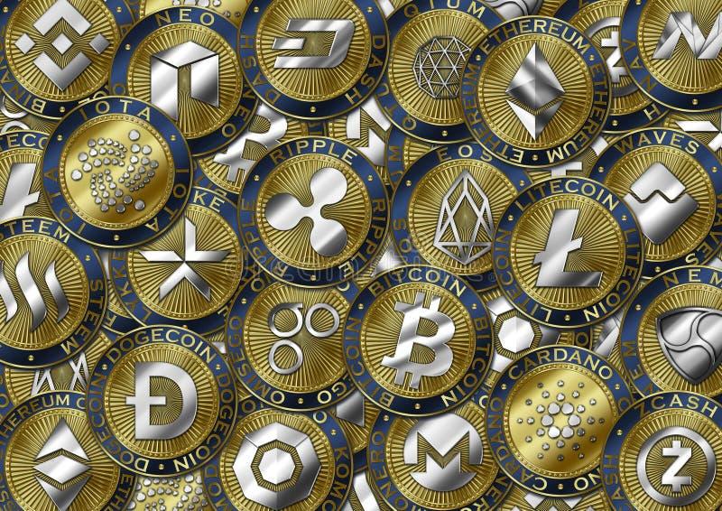 Fondo de la moneda de Cryptocurrency libre illustration