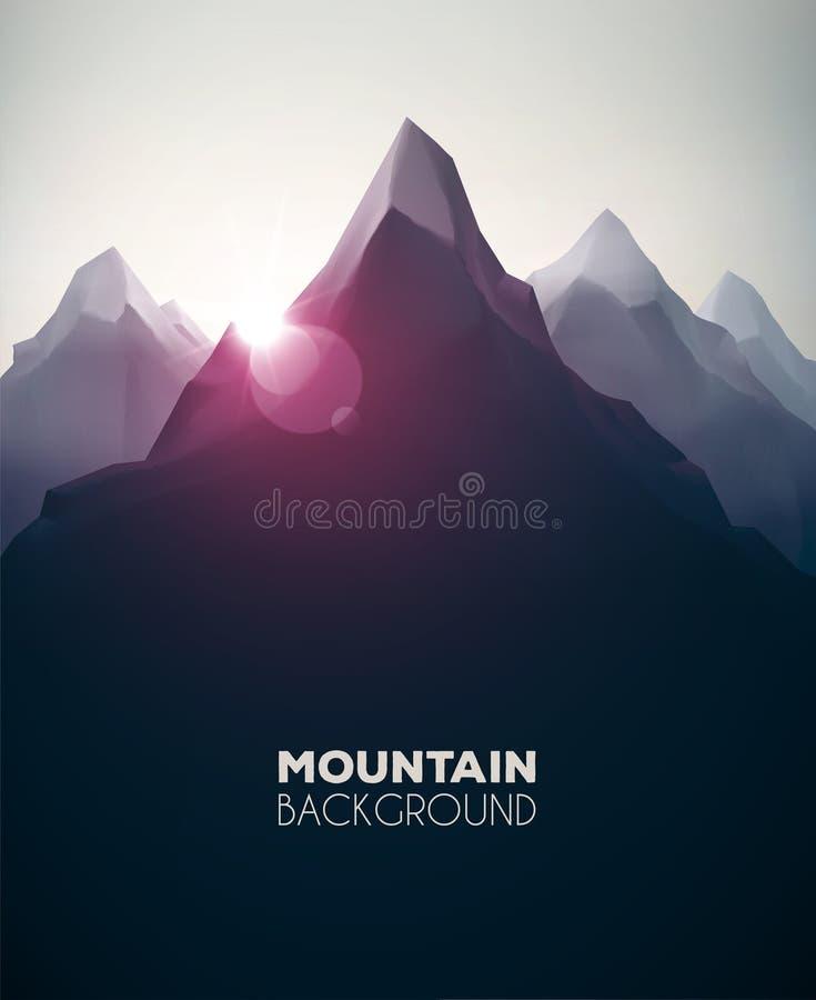 Fondo de la montaña libre illustration