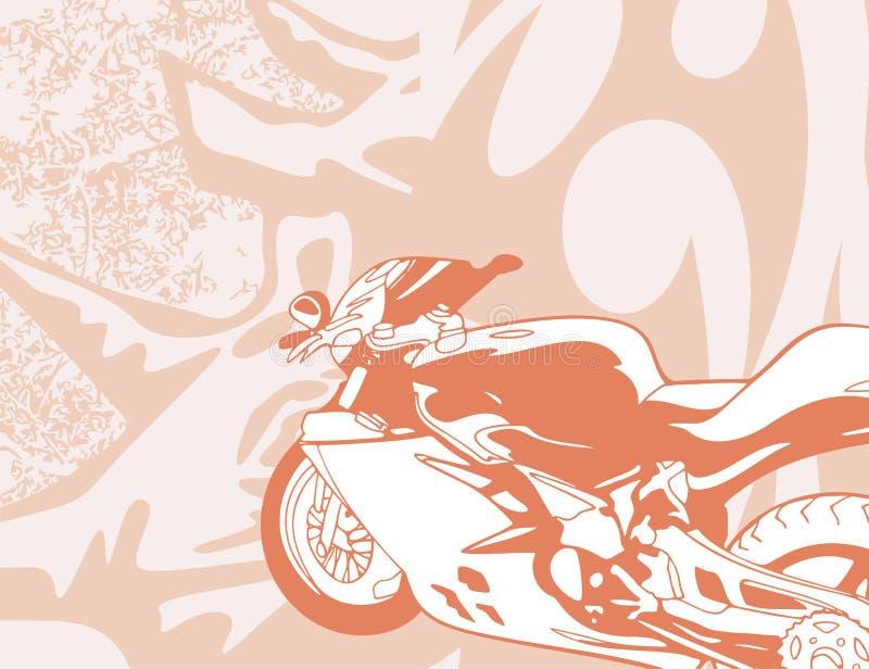 Fondo de la motocicleta ilustración del vector