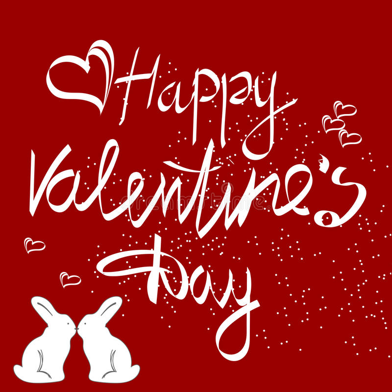 Fondo de la muestra del vintage del día de tarjetas del día de San Valentín stock de ilustración