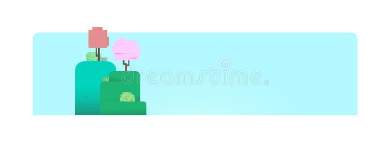 Fondo de la naturaleza de la primavera con los árboles ilustración del vector
