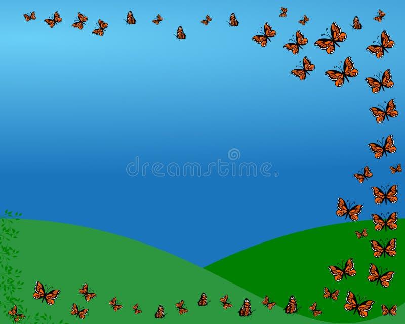 Vuelo de la mariposa libre illustration