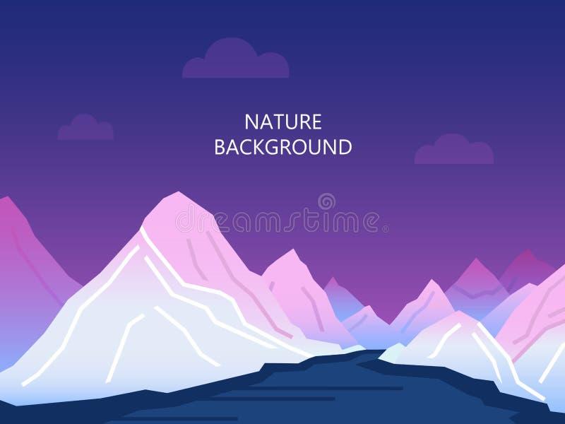 Fondo de la naturaleza en estilo plano del vector fotos de archivo